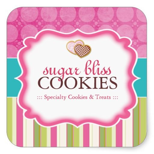 Cookie and dessert packaging stickers