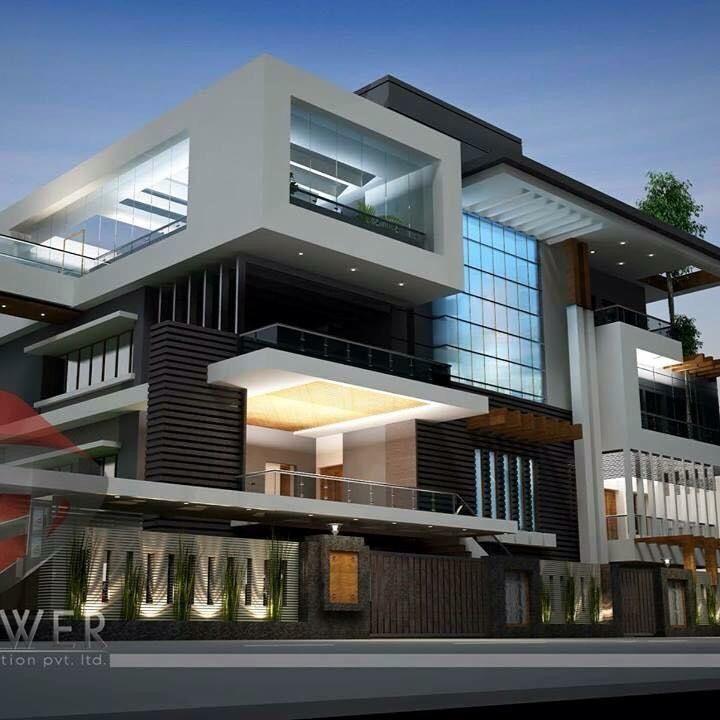Modern Residential Exterior By Ar Sagar Morkhade: Pin By Silvy Kinanti On H O U S E D R E A M. In 2019