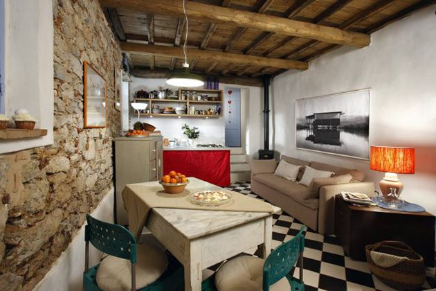 Ferienhaus Toskana Camaiore Ref. 93914-9 Ferienhaus für 2 Personen mit Blick auf das Meer - Essbereich (innen)