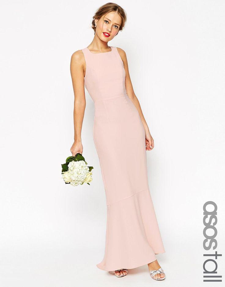 Imagen 1 de Vestido largo con cola de pez de ASOS TALL WEDDING