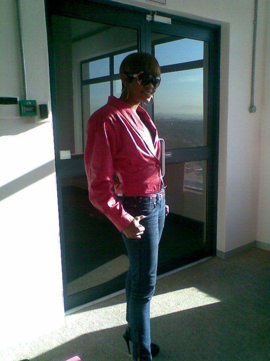 Pink leader jacket