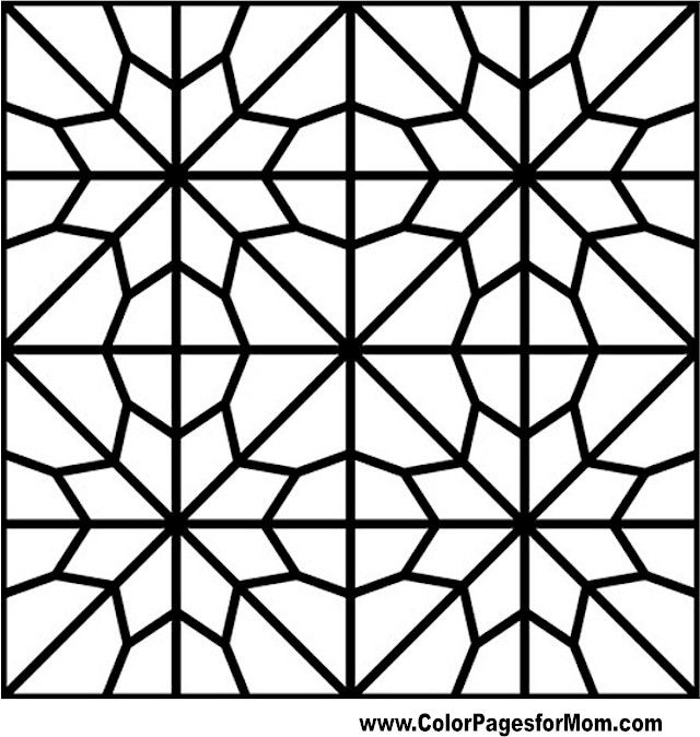 Geometric Mosaic Pages Coloring Sketch Coloring Page