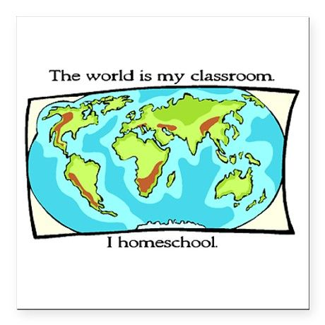 the_world_is_my_classroom_square_car_magnet.jpg (460×460)