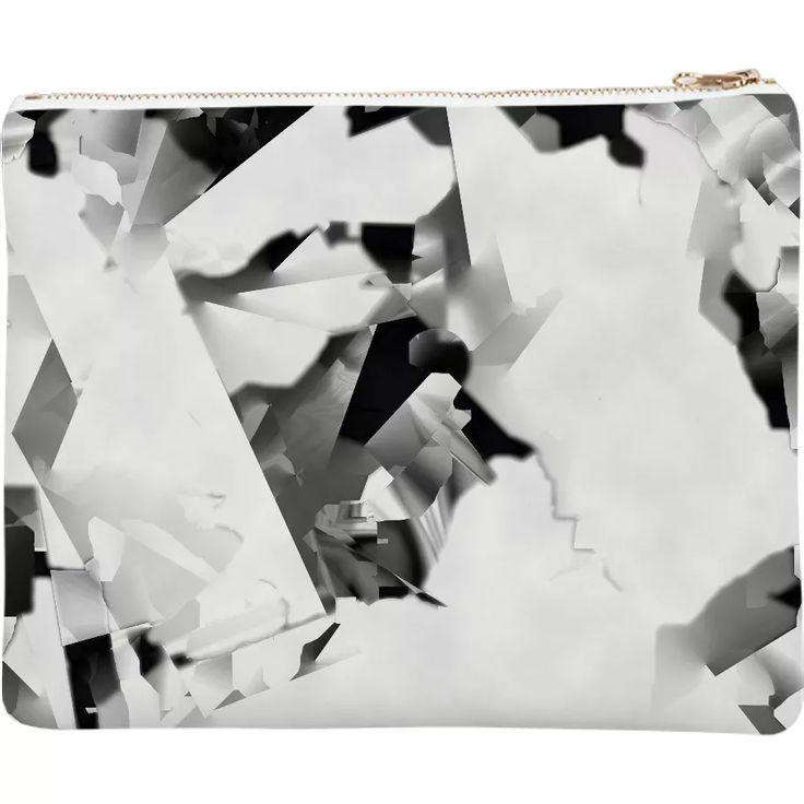 Shop White prelude Neoprene Clutch by Kamo Vamo | Print All Over Me