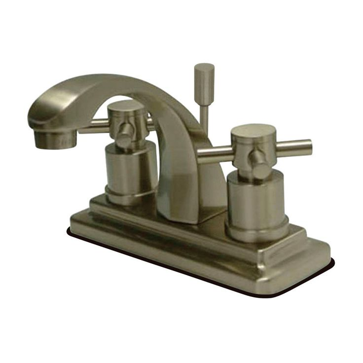 "Kingston Brass KS4648DX Concord 4"" Centerset Lavatory Faucet with Pop-Up, Satin Nickel - Price: $179.95 & FREE Shipping over $99     #kingstonbrass"