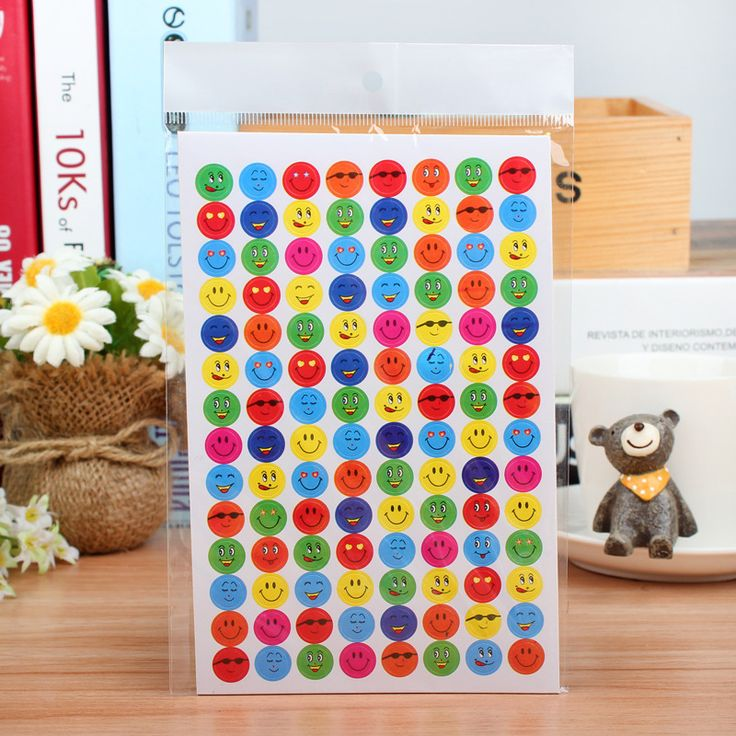 1120pcs Stickers Children Smile Face Reward Stickers School Teacher Merit Praise Class Sticky Paper Labels Classic Toys for Kids