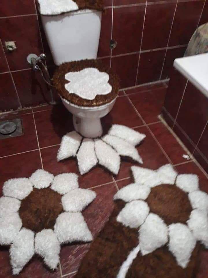 اطقم حمام فرو صناعي محشي فيبر Home Decor Decor Rugs