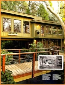 """River running """"through"""" the house. WOW! Caifornia waterfall retreat. Sign me up . . ."""
