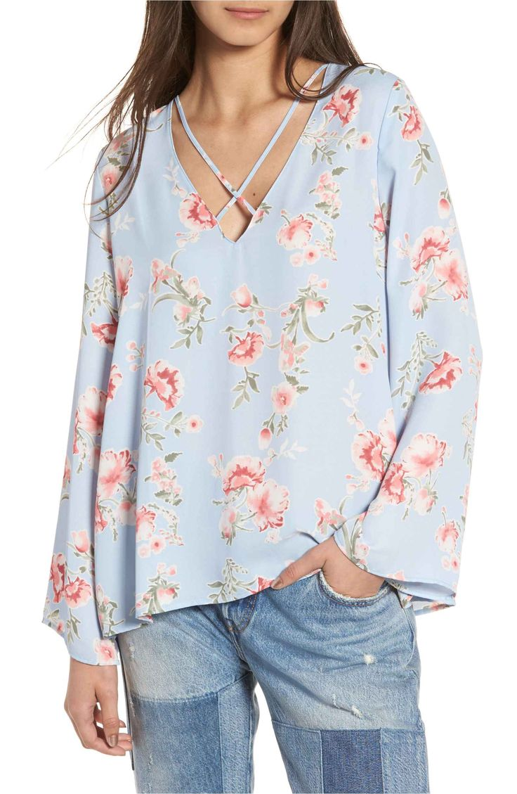 Main Image - Lush Cross Front Blouse