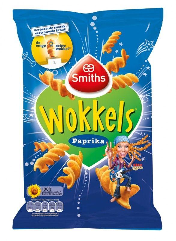 Smiths Wokkels Paprika 110 gram