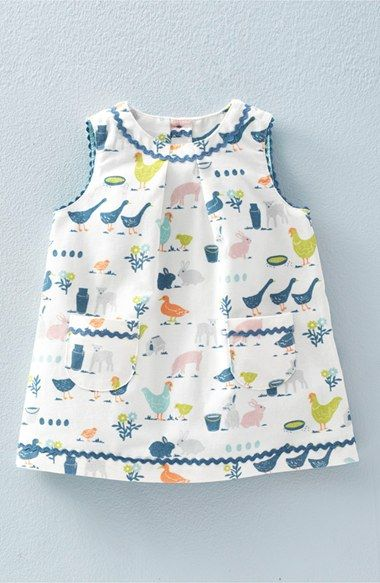Mini Boden Retro Print Corduroy Pinafore (Baby Girls & Toddler Girls) available at #Nordstrom