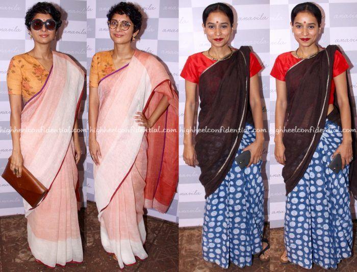 Kiran Rao And Tillotama Shome At Anavila Store Launch