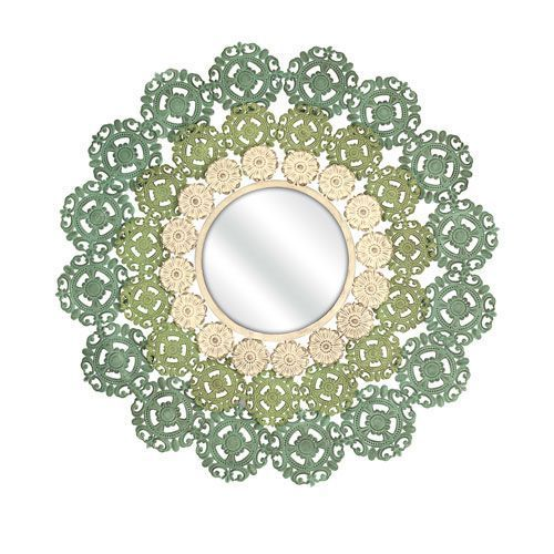 Mcguire Blue and Green Medallion Mirror