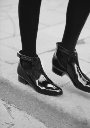 & OTHER STORIES Patent Leather Ankle Boots