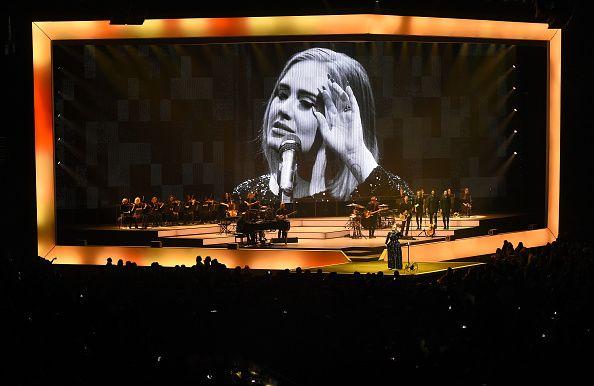 Singer/songwriter Adele performs at Talking Stick Resort Arena on August 16 2016 in Phoenix Arizona