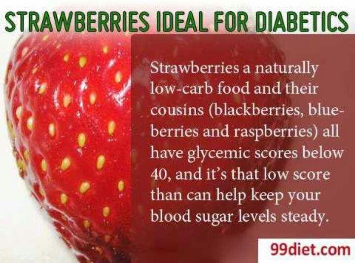 Strawberries help diabetics