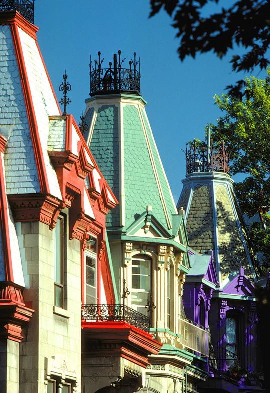 Montreal rooftops. Looks like the roof tops in Mary Poppins