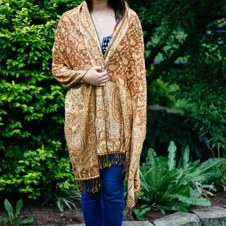 Indian Reversible Shawl from Trouvaille Boutique
