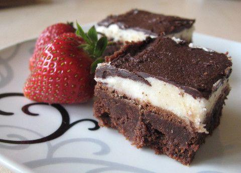 Czekoladowo-miętowe brownie