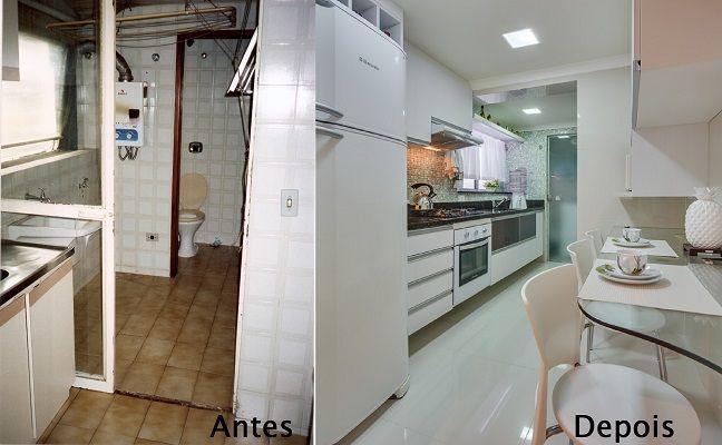 Reforma de cozinha pequena,antes e depois.