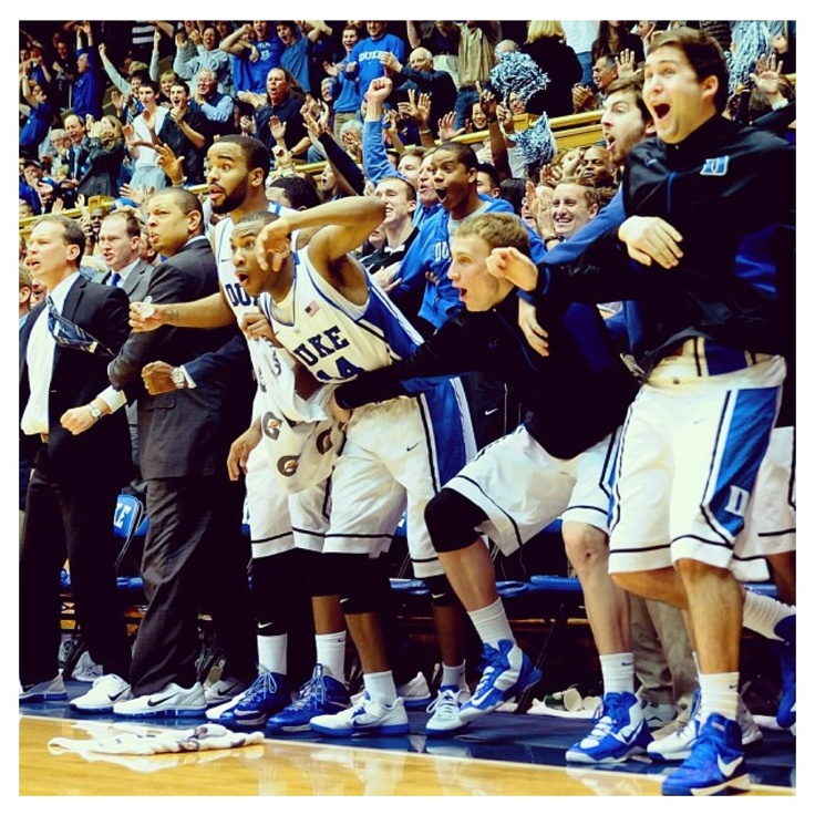 Game against Maryland 1-26-13 Duke Basketball - bench reacts to Mason's NO LOOK REVERSE!!