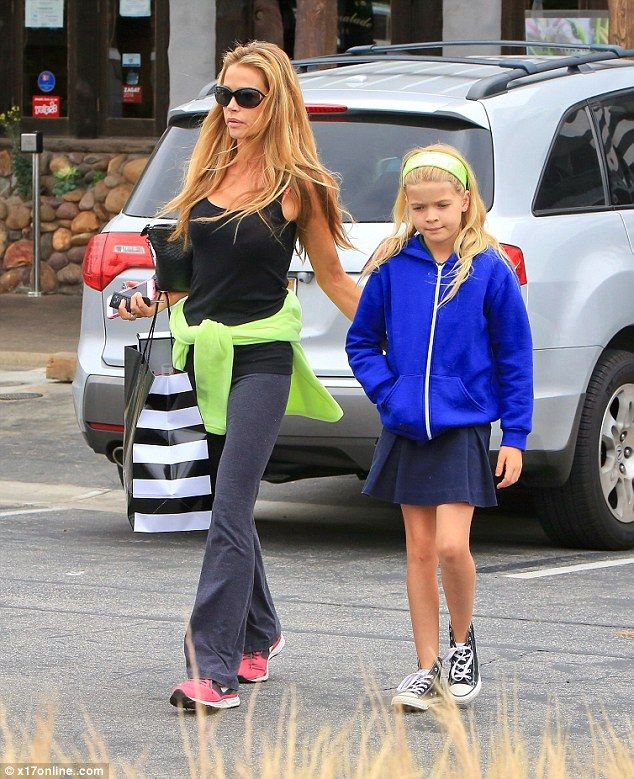 Bonding time: Denise Richards takes her daughter Lola to Sephora in Malibu on Friday...