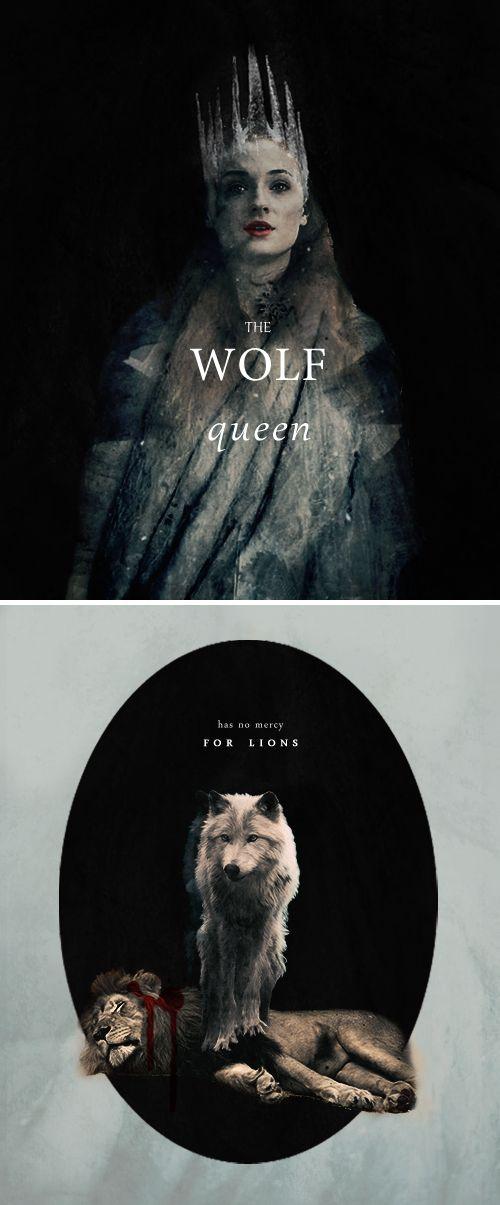 Sansa Stark: The Wolf Queen has no mercy for lions. #got #asoiaf