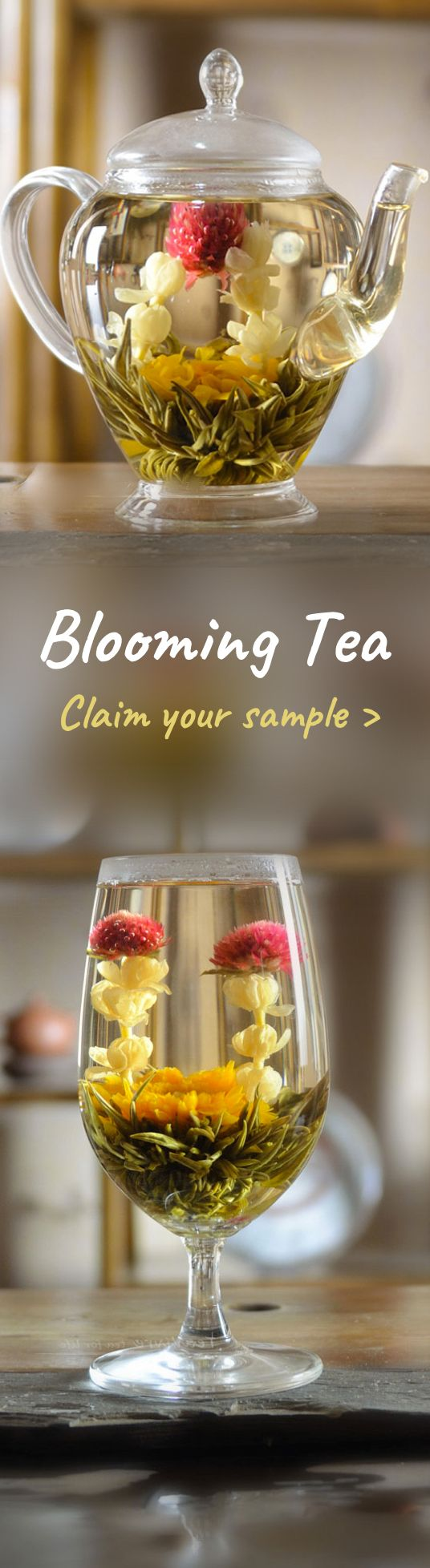 We are giving away FREE samples of our organic blooming tea. It's a great Christmas gift idea for Tea lovers, or for hosting a dinner party. Claim yours now >