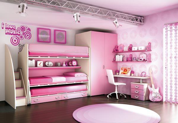 habitación rosa hermanas