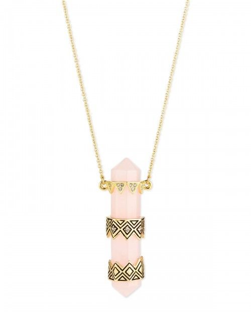 House+Of+Harlow+Prana+Resin+Pendant+Necklace+Rose+Gold+|+Jewelry+and+Accessory