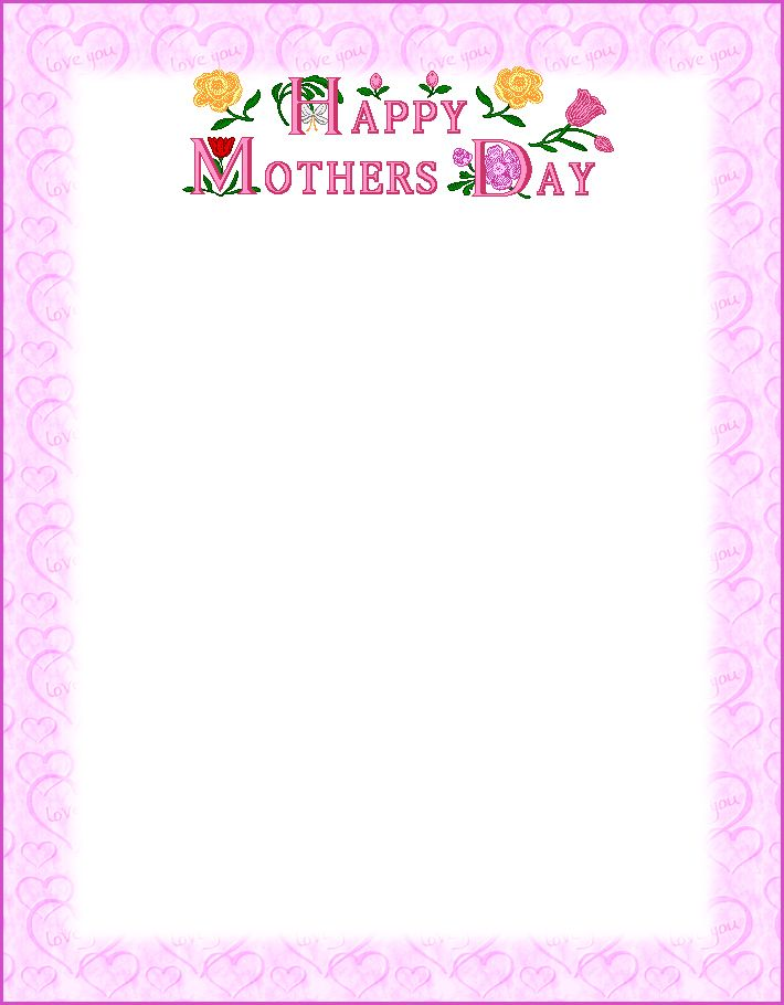 Free printable Happy Mother's Day poems that kids can print out and use in greetings cards or letters to their mom on mother's day. Description from prek-8.com. I searched for this on bing.com/images