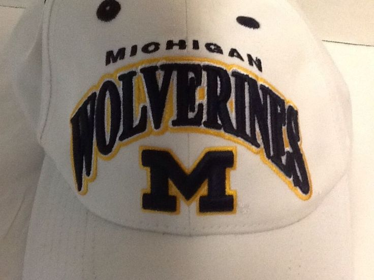 university of michigan fitted baseball hat eastern cap wolverines white blue yellow western