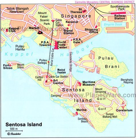 Sentosa Island Map | Singapore | Tourist Attractions