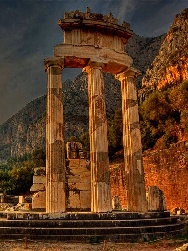 At Dusk The Tholos Temple, Delphi Greece