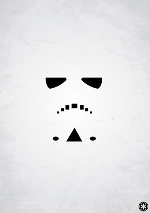 Very simple but you can still read the stormtrooper