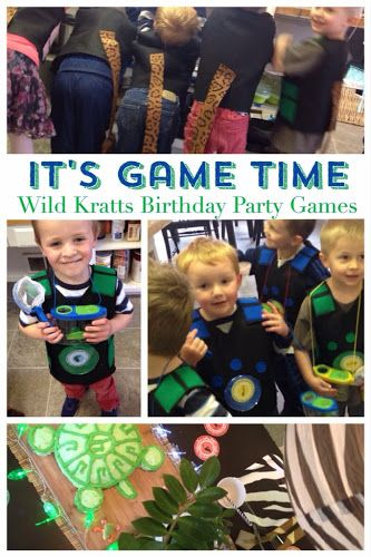 "Your kids will wild out with these ""Wild Kratts"" birthday party games and tutorials! See more with ""The Style Sisters""."