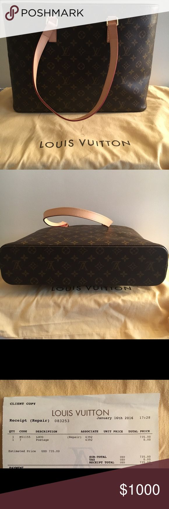 "Louis Vuitton Luco Original Louis Vuitton lugo bag; barely used in excellent condition; comes w original dust bag; Width 16 inches, length 12 inches, 4 inches deep. New interior and straps...""Like New"" condition! Louis Vuitton Bags Travel Bags"