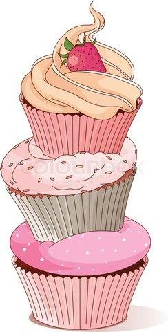 Esre el dibujo de un cup cake