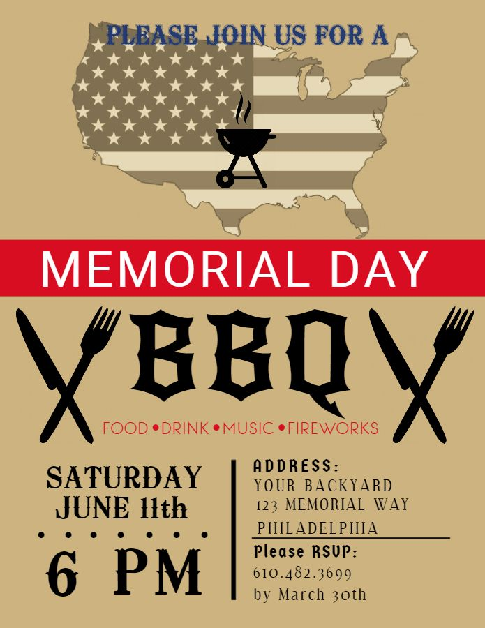 19 best Memorial Day Poster Designs images on Pinterest Poster - bbq flyer