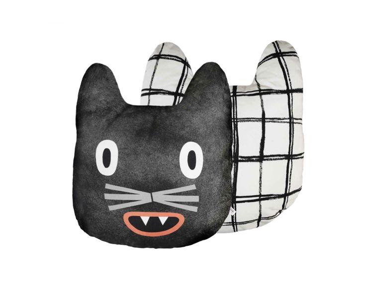 Katzen Kissen, 100% Baumwolle // cat pillow, cotton via DaWanda.com