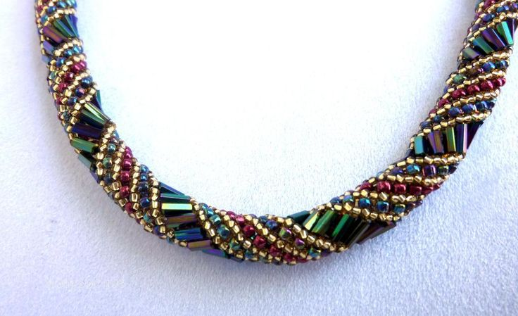 You have to see Victorian style seed beaded necklace on Craftsy!  Russian Spiral