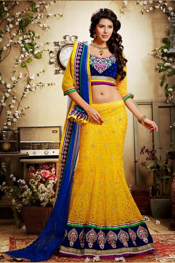 #Lehengacholi is a perfect dress to steal the show with style. Add that touch of regal elegance to your look with this Blue Lace Work Lehenga, available on Ethnic Station http://www.ethnicstation.com/lehenga-1/lehenga-choli/blue-lace-work-lehenga-7
