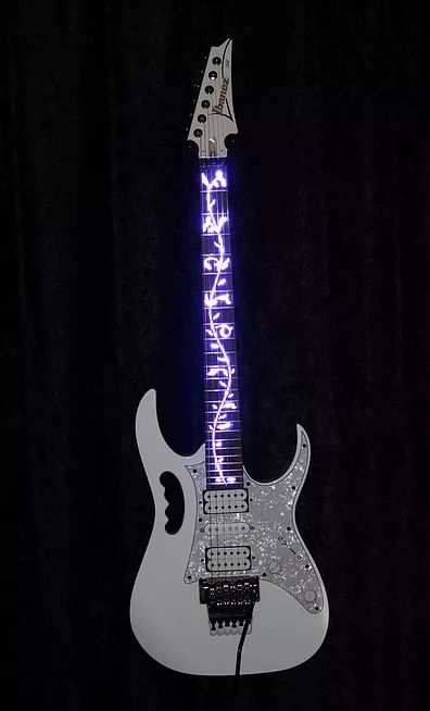 illuminated inlay Ibanez guitar jem Steve Vai Guitars guitar guitarra guitare gitarren gitare guitar player god hero world magazine shred scales scale lesson lesson picture photo pics pic