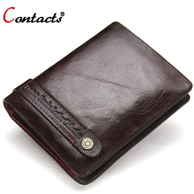 Special offer CONTACT'S Small Genuine Leather Wallet Men Purse Short Business Credit Card Holder Coin Male Clutch Bag Money Men's walet travel just only $18.91 with free shipping worldwide  #walletsformen Plese click on picture to see our special price for you