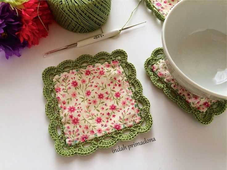 Craftmee: Coaster with Crochet Edging Tutorial