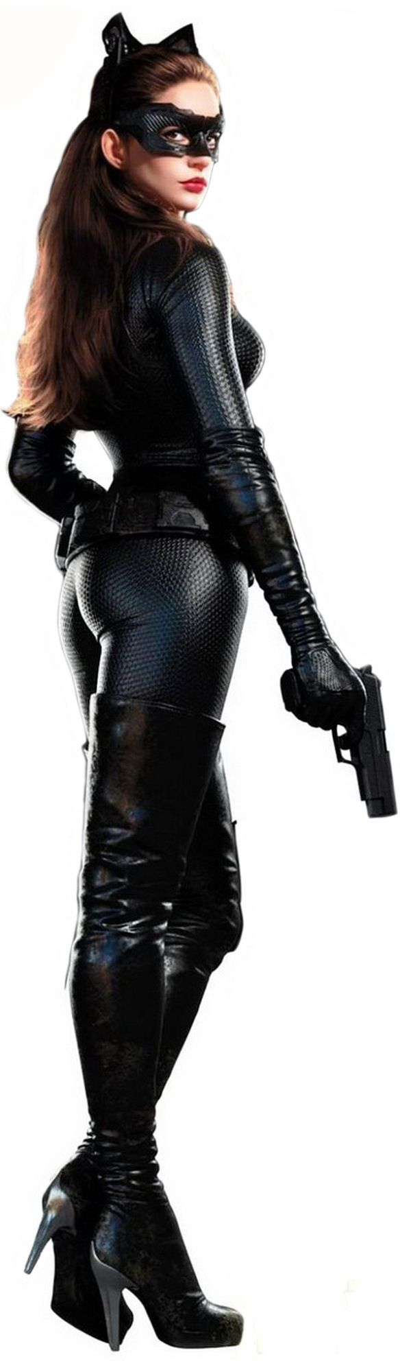 Anne Hathaway as Catwoman. Possible halloween costume.
