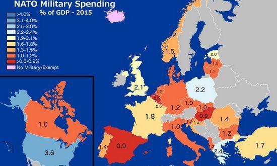 Spesa militare Nato, cifre crollate dopo la caduta del muro: le mappe