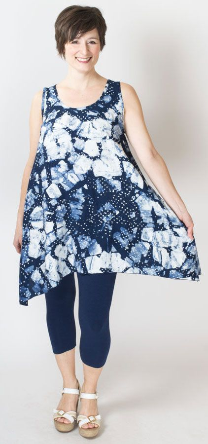 LOVE the depth in this hand-dyed batik pattern! Perfect for summer, when it finally arrives! XXS-4X - Blue Sky Clothing Co