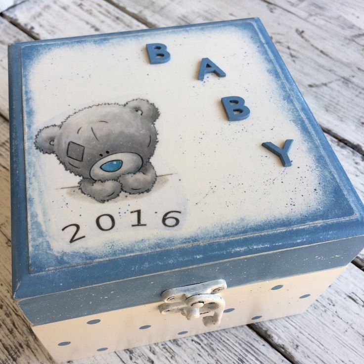 Personalized baby memory box...