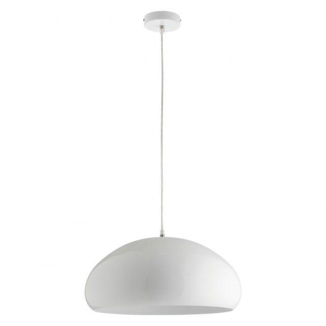 ROCK White metal ceiling light